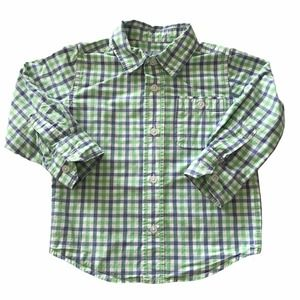 Baby Gap Gingham Roll Sleeve Button Down Shirts